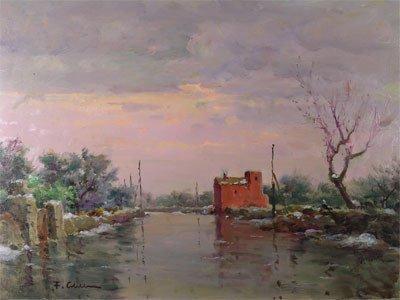 "11: FRANCO COLELLA (Italian 1900-1981) A painting, ""Lan"