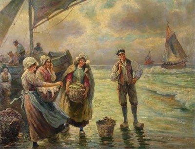 "17: GUSTAV PRUCHA (Austrian 1875-1952) A painting, ""Cla"
