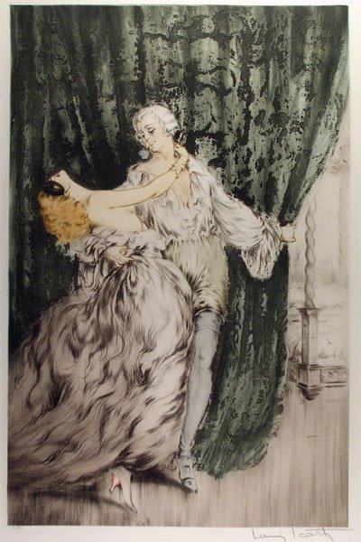 "19: LOUIS ICART (French 1888 - 1950) An engraving, ""Cas"