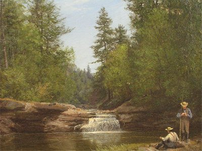 "141: AMERICAN SCHOOL (19th Century) A painting, ""Mounta"