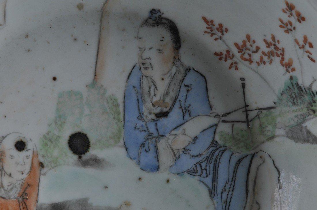 2: A VINTAGE CHINESE FAMILLE ROSE PORCELAIN BASIN, SECO - 4