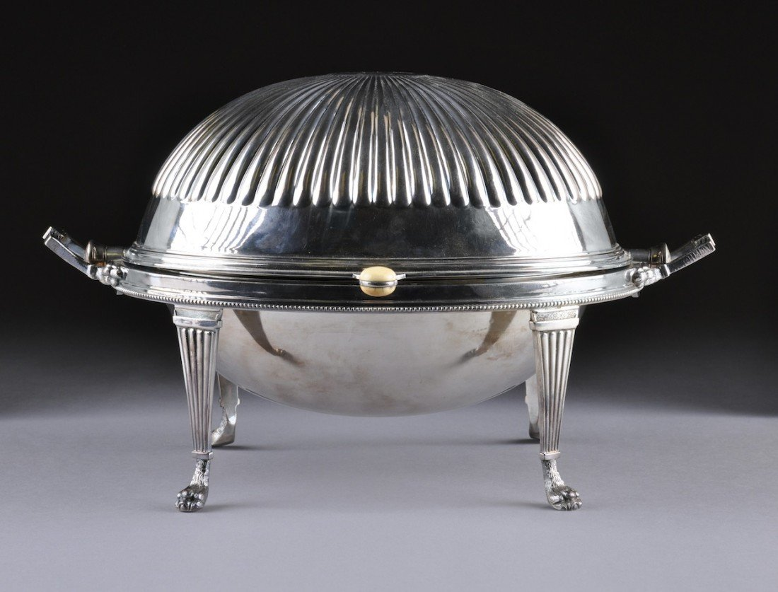 5: A SHEFFIELD SILVER PLATED STEAMED VEGETABLE STAND, 2
