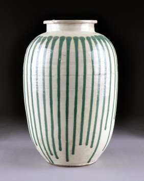 A RARE EDO PERIOD SHIGARAKI JAR Of Globular Form