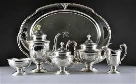 343: A TOWLE STERLING SILVER TEA/COFFEE SERVICE, LOUIS