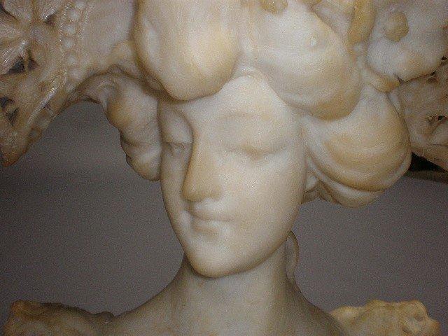 1I: A CARVED ALABASTER BUST OF A FEMALE - 2