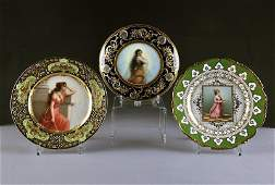 A GROUP OF THREE GERMAN PARCEL GILT AND POLYCHROME