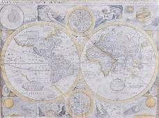 """165: JOHN SPEED """"A NEW AND ACCURATE MAP OF THE WORLD,"""""""
