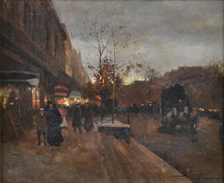 """295: ÉDOUARD CORTÉS (French 1882-1969) A PAINTING, """"Les"""