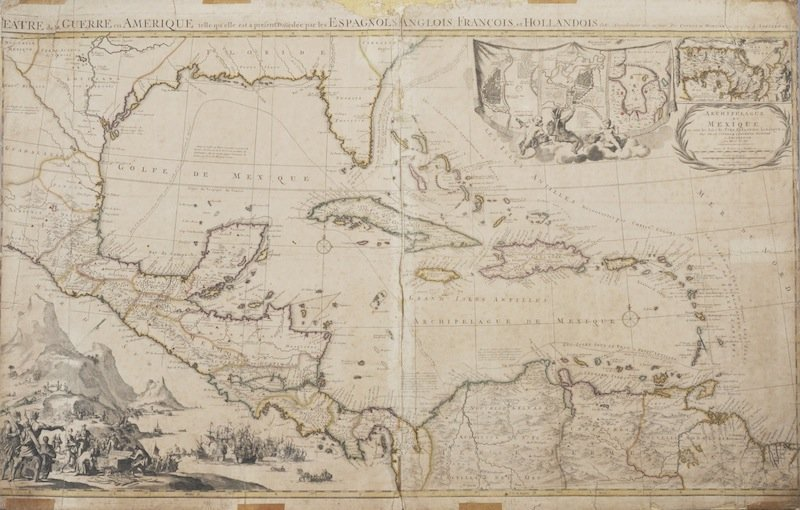 319: AN ANTIQUE MAP OF ARCHIPELAGUE DU MEXIQUE PAR JEAN