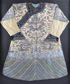 415: A RARE CHINESE IMPERIAL POLYCHROME THREAD EMBROIDE