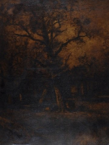 """1J: JULES DUPRE (French 1811-1889) A PAINTING, """"Wooded"""