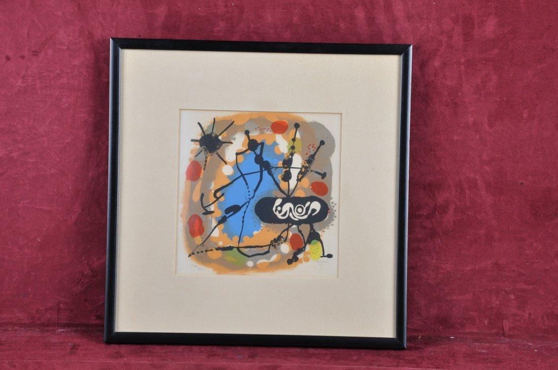 "1O: JOAN MIRÓ (Spanish 1893-1983) A LITHOGRAPH. ""The El"