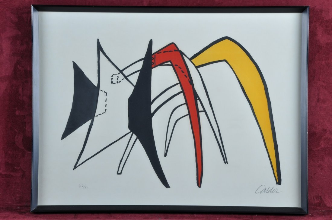 1P: ALEXANDER CALDER (American 1898-1976) A LITHOGRAPH,