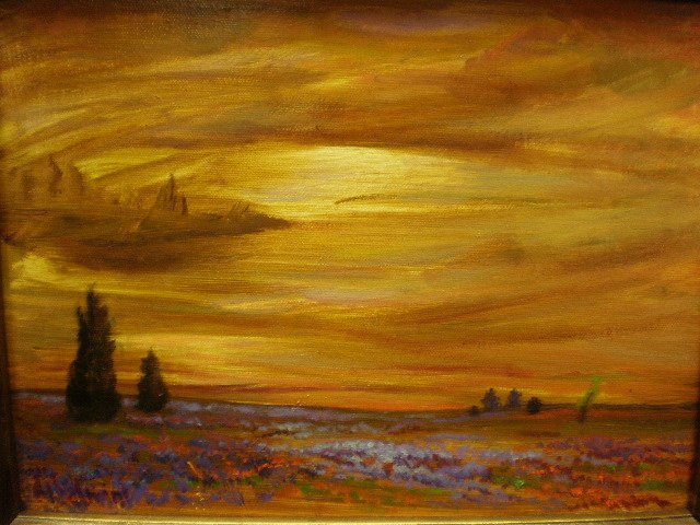 "1AA: MARIS SALMINS (Latvian b. 1957) A PAINTING, ""Texas"