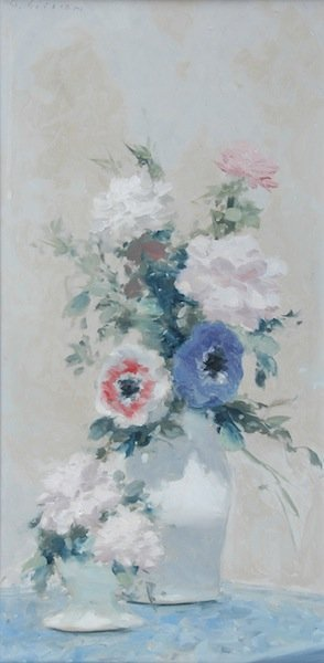 """20: ANDRE GISSON (American 1921-2003) A PAINTING, """"Flor"""