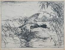 FRANK WESTON BENSON (American 1862-1951) AN ETCHIN