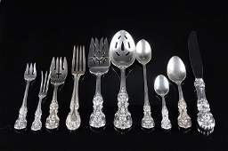 228 AN ASSEMBLED 150 PIECE AMERICAN STERLING AND SILVE