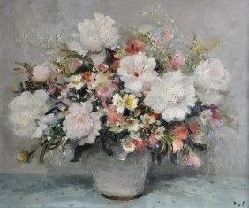 """229: MARCEL DYF (French 1899-1985) A PAINTING, """"Pivoine"""