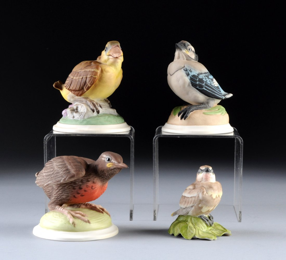 22:  A GROUP OF FOUR BOEHM FLEDGLING FIGURINES, NEW JER