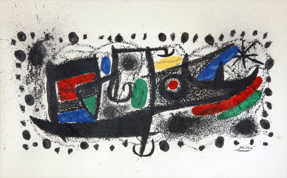 "122:  JOAN MIRO (Spanish 1893-1983) A LITHOGRAPH, ""Star"