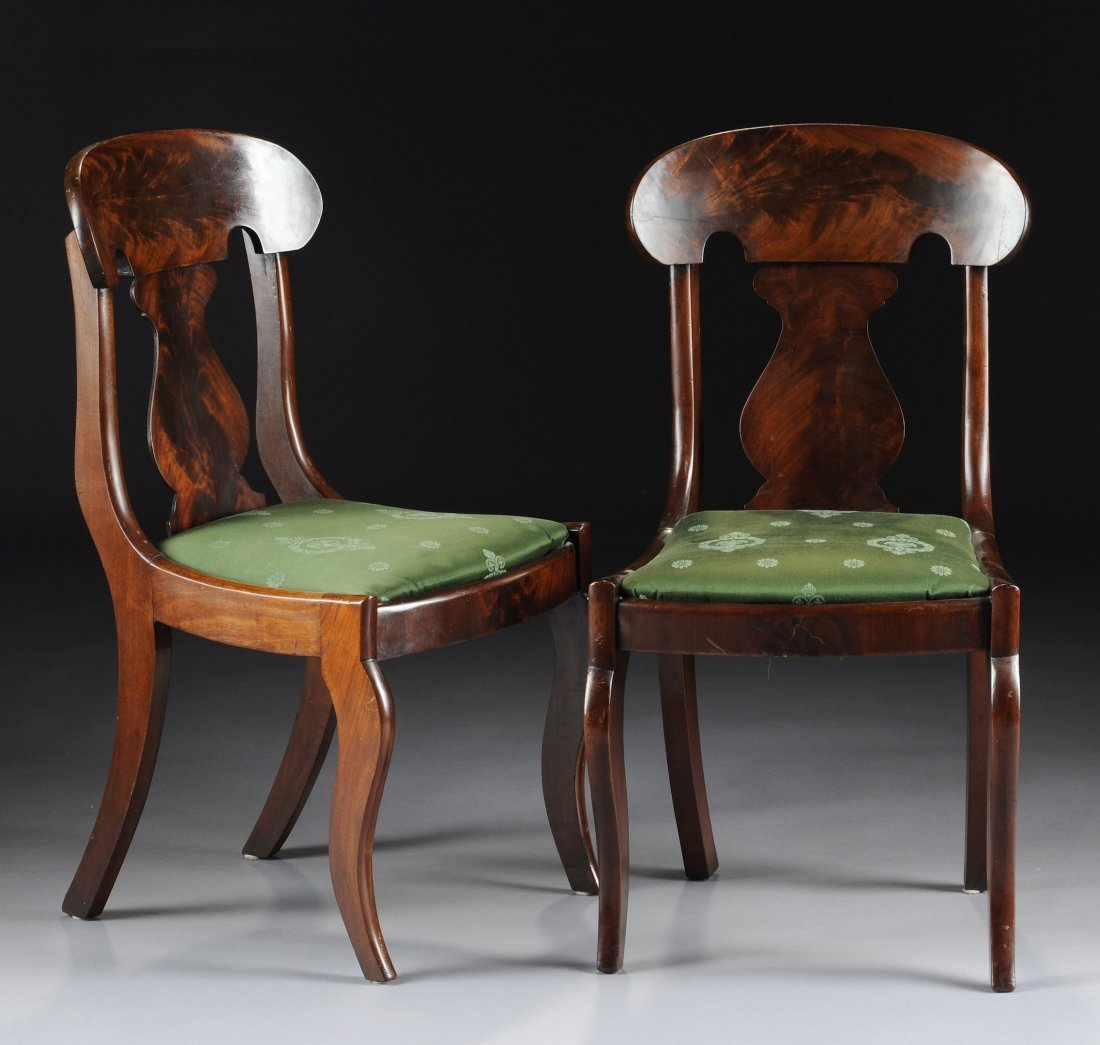 360:  A PAIR OF TWO AMERICAN EMPIRE MAHOGANY SIDE CHAIR