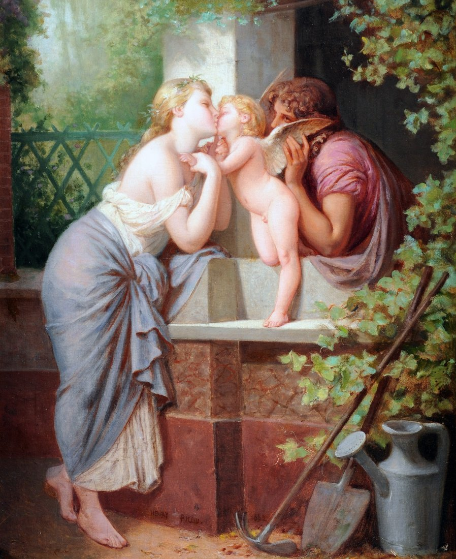575:  HENRI PIERRE PICOU (French 1824-1895) A PAINTING,