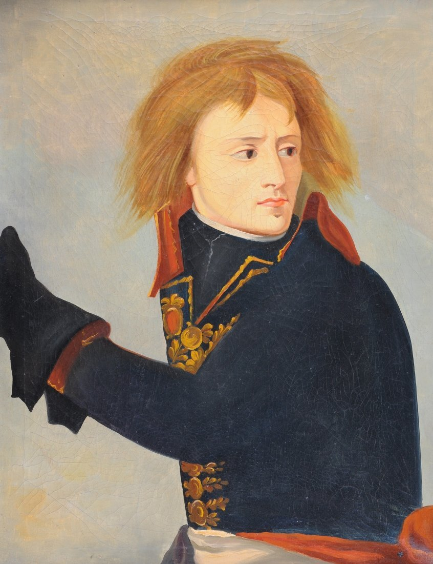 "ITALIAN SCHOOL (20TH CENTURY) A PAINTING, ""Napoleon as"