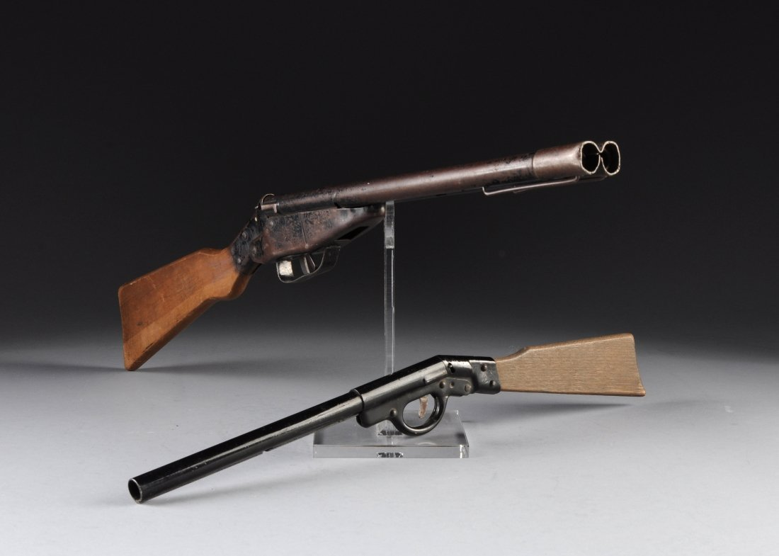 TWO VINTAGE TOY POP RIFLES, EARLY TO MID 20TH CENTURY,