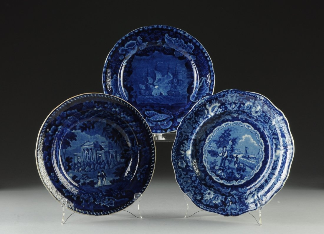 AN AMERICAN FEDERAL BLUE AND WHITE PARTIAL DINNER SERVI - 10