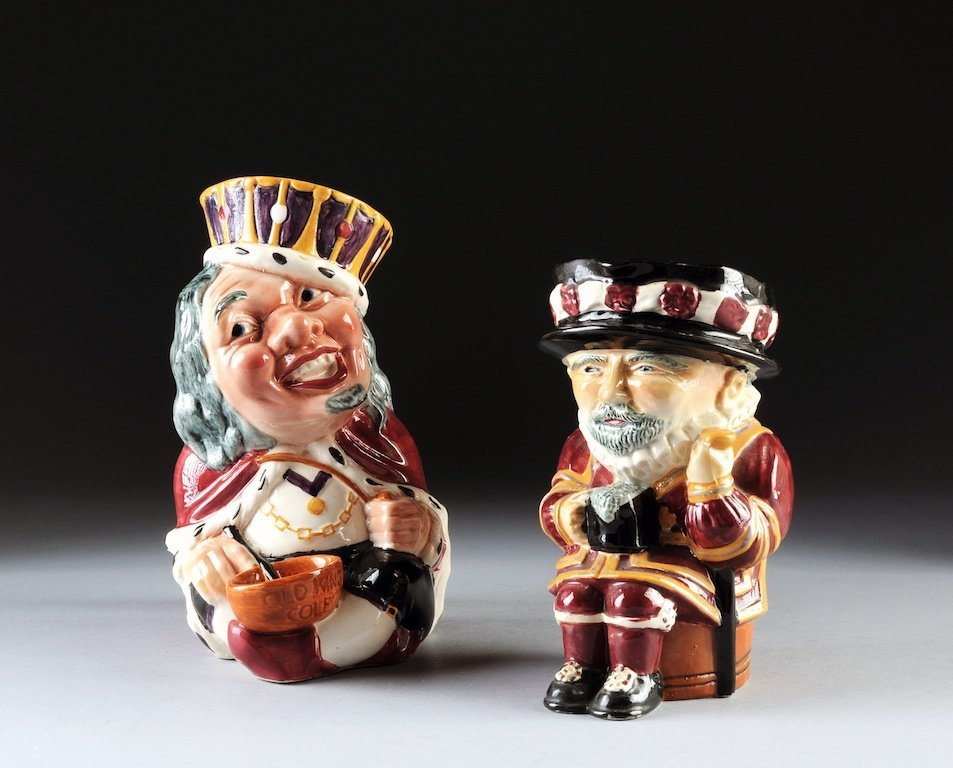 TWO LARGE STAFFORDSHIRE TOBY JUGS, BY SHORTER & SONS, E