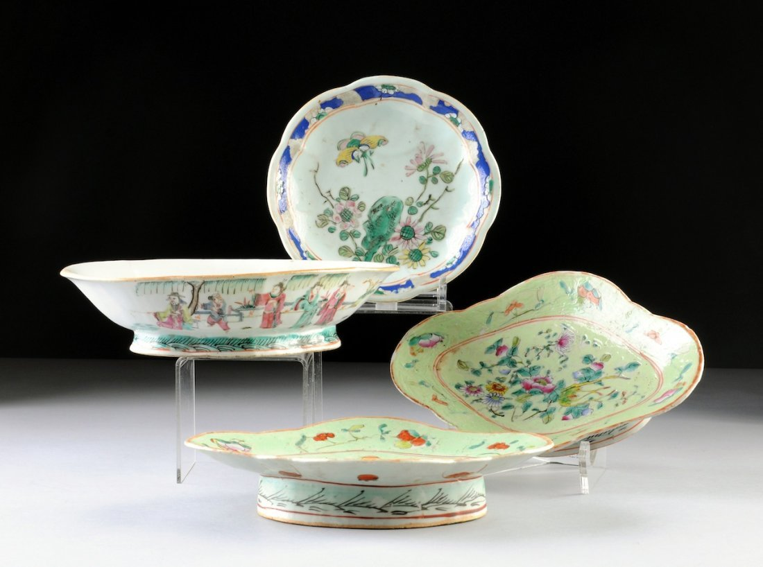 A GROUP OF VINTAGE CHINESE MULTICOLORED GLAZED WARES, S