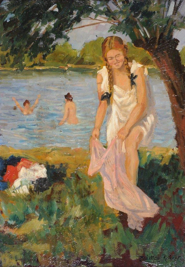 "ROBERT NADLER (Hungarian 1858-1938) A PAINTING, ""The Ba"