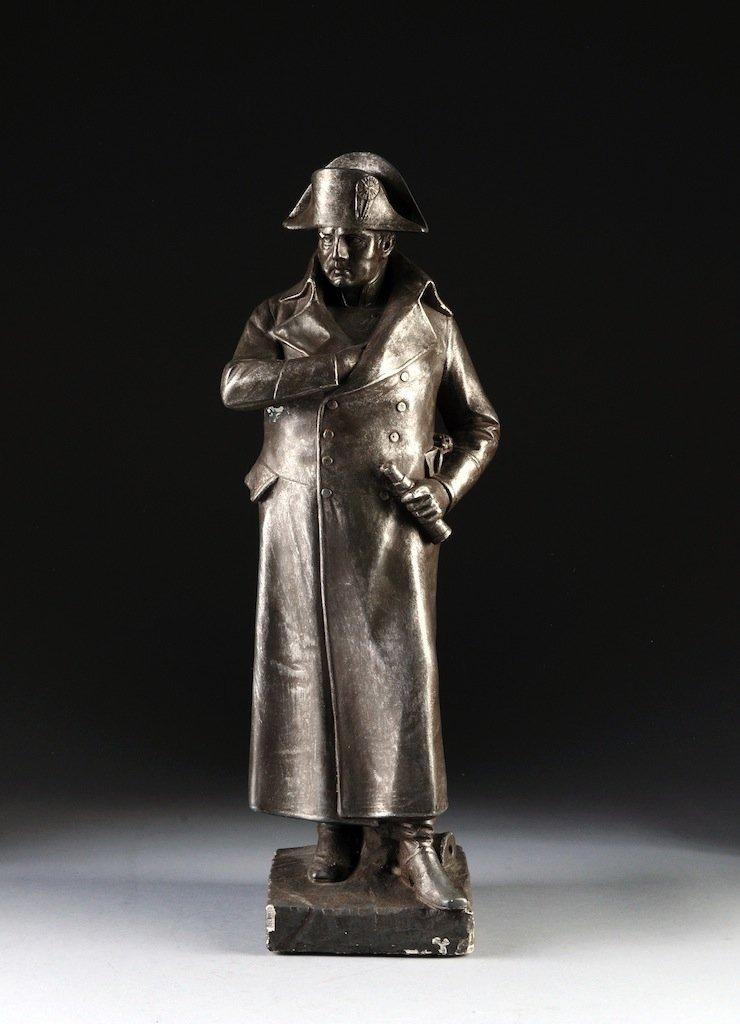 A CHALKWARE STANDING FIGURE OF NAPOLEON BONAPARTE, 19TH
