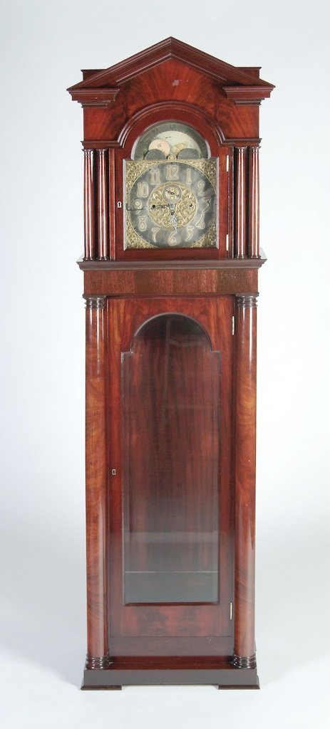 AN EARLY 20TH CENTURY EDWARDIAN FLAME MAHOGANY TALL CAS