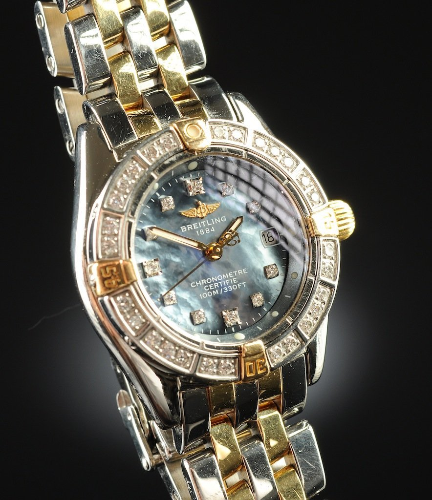 A BREITLING CALLISTINO 18K YELLOW GOLD, STAINLESS STEEL