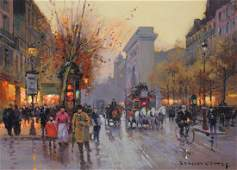 DOUARD CORTS French 18821969 A PAINTING Porte Sa
