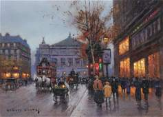 DOUARD CORTS French 18821969 A PAINTING Rue de l