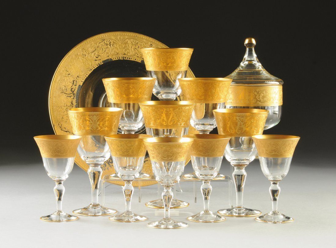A THIRTEEN PIECE GLASTONBURY/LOTUS PARCEL GILT