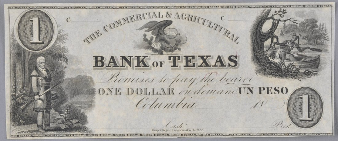 A COMMERCIAL & AGRICULTURAL BANK OF TEXAS $1, COLUMBIA,