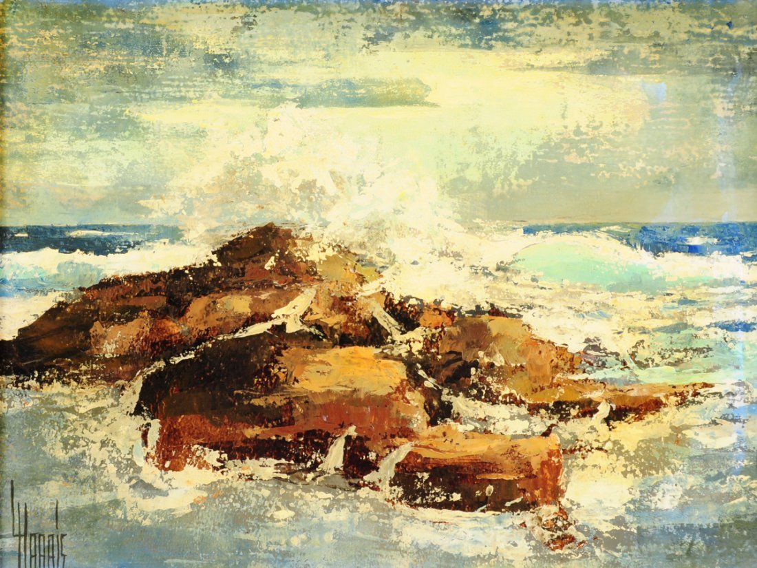 "LAWRENCE HARRIS (American b. 1937) A PAINTING, ""Waves,"""