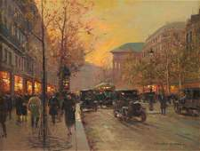 """ÉDOUARD CORTÈS (French 1882-1969) A PAINTING, """"Rue de"""