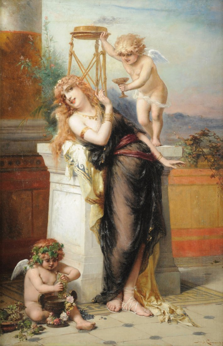 JOSEPH COOMANS (European 19th Century) A PAINTING,
