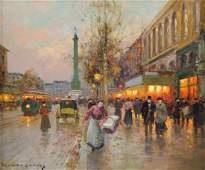 DOUARD CORTS French 18821969 A PAINTING Place de