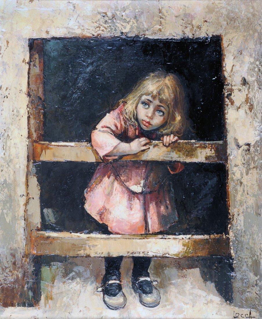 "BERNARD LOCCA (Italian 1926-1997) A PAINTING, ""Small"