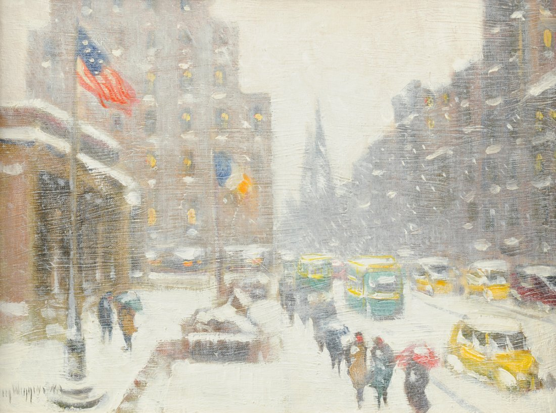GUY CARLETON WIGGINS (American 1883 -1962) A PAINTING,