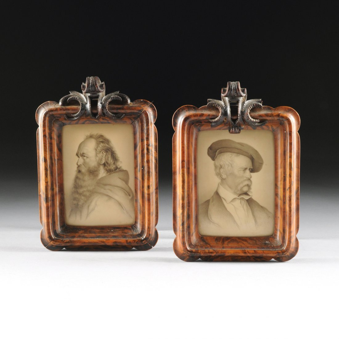 PAIR OF FINE PENCIL DRAWN PORTRAITS OF 19TH CENTURY