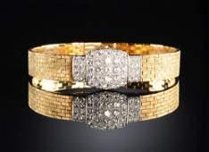 AN 18K YELLOW GOLD AND DIAMOND AUDEMARS PIGUET LADY'S