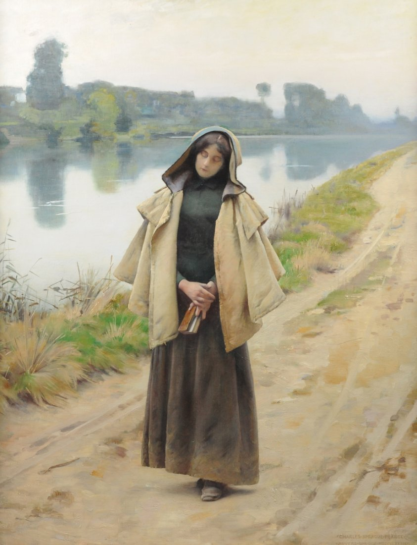 CHARLES SPRAGUE PEARCE (American 1851-1914) A PAINTING,