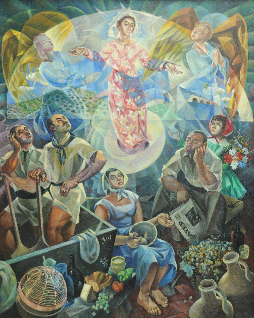 "ANTONIO RAMIREZ (Mexican 1926-2010) A PAINTING, ""Our"