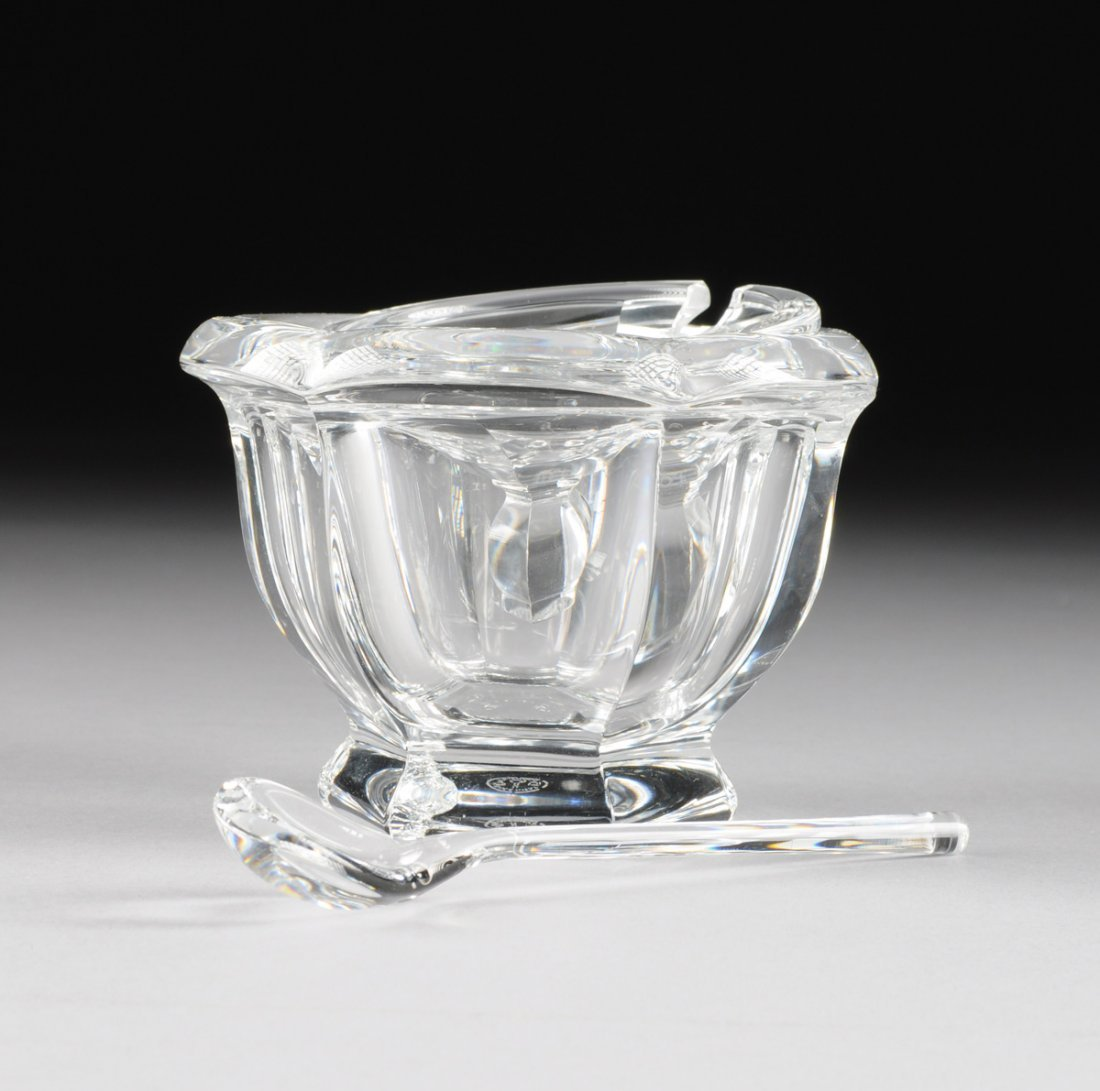 "A SET OF FOUR BACCARAT CLEAR CRYSTAL ""BRETAGNE"" PATTERN - 3"